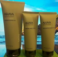 Ahava Time to Energize Hand Cream, Shower and Cleansing Gel Men Set  SEALED