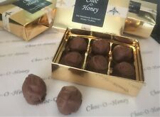 Six Handmade Somerset Honey Belgian Milk Chocolate Truffles