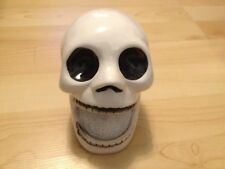 WHITE GOTH SKULL SCRUBBIE DISH SPONGE HOLDER Halloween DECOR New KITCHEN