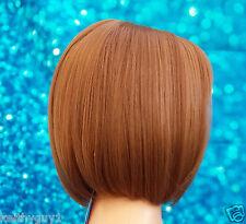 Ladies Zyr Bobo brown bob fashion full wig synthetic classic cap heat resistant