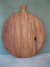 "Dough Board Primitive Country 18-3/4"" Round Wood Bread Pie Large, Double Splines"