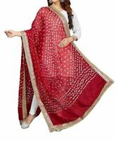 Women's Ethnic Wear Bandhani Dupatta Art Silk Scarf Bandhej Dupatta Wrap