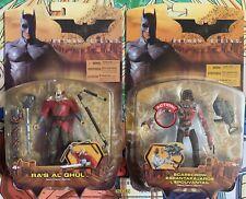 Batman Begins Movie Scarecrow Bloody Variant Ra's Al Ghul Figure Mattel Moc Lot