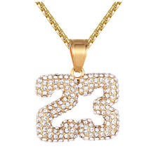 Men's Basketball Jersey number 23 Stainless Steel Gold Finish Pendant