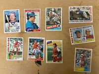 Lot Of 9 Carlton Fisk HOF Baseball Cards Topps Chicago White Sox