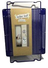 """Wire Locker Shelf, Blue, Stands 12"""" inch Tall, 10 x 11, Convenient Book Storage"""
