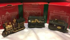 Christmas Decor TRAIN SET 1998 Engine Circus Caboose JCPenney Home Towne Express