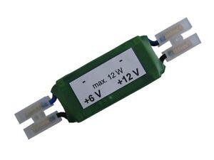 DC/DC converter from 6V up to 12V for supply LED light bulbs