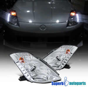 For 2003-2005 Nissan 350Z SMD LED HID Projector Headlights Head Lamps