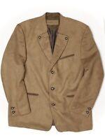 NWT Landhaus Trachten Suit Jacket Pants 48R 42x32 Brown Faux Suede Oktoberfest