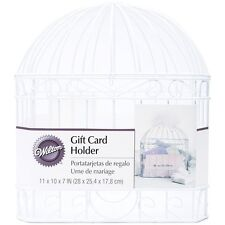 WILTON Wedding Shower Reception Bird Cage Gift Card Holder White Box Wishing