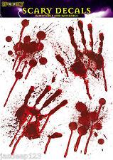 Halloween Window Stickers Hand Blood Party Decorations Horror Handprints Spooky