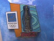 ATHENS 2004 OLYMPIC LAPEL PIN COLLECTIONS: US COCA-COLA COKE BOTTLE 3D