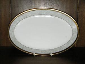1 Fleischplatte Wurstplatte 36cm Grau marmor mit Ätzgoldkante von Winterling
