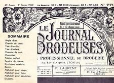 LE JOURNAL DES BRODEUSES n°779 Février 1960