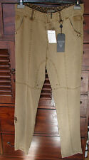 Great Trousers Three Quarter Pants New with Eti. Guess Beige Silk ARTIF.T.38 Val