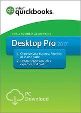QuickBooks Desktop Pro 2017 - 1 user - 60 days money back guarantee