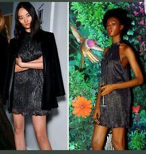 Zara Halter Neck Shimmer Thread Dress Size L 12