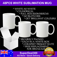 48Pcs - Grade A Blank White Sublimation Mug with Individual Box