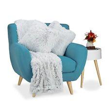 Couvertures lavable en machine gris pour le lit, pour salon