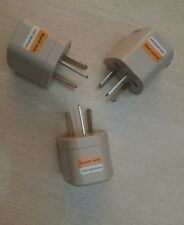 3Pcs USA EU CHINA Plug to AUS travel power plug convertor