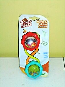 Bright Starts Rattle & Shake Baby Rattle Barbell NEW Toy 3 months +