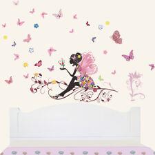 Vinilos decorativos infantiles Hada sentada con mariposas. DOCLIICK DC-059-17