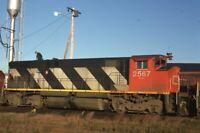 CN CANADIAN NATIONAL Railroad Locomotive PORTLAND ME Original 1979 Photo Slide