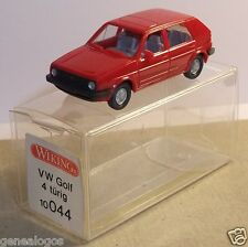 MICRO WIKING HO 1/87 VW VOLKSWAGEN GOLF II ROUGE 5 portes in box
