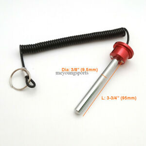"""3/8"""",3-3/4"""" Rod Aluminum Magnetic Weight Stack Pin with Lanyard for Fitness Gym"""