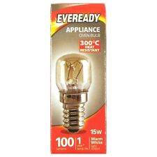 1 x Eveready Oven BULB 15W 100 Lumens 220-240V Appliance Cooker Lamp