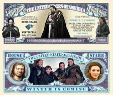 Game of Thrones Billet Million Dollar US! House Stark Collection Aria John Snow