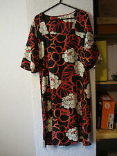 Phase Eight black & red/white floral silk tunic dress 10