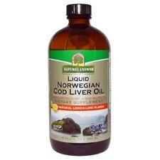 Liquid Norwegian Cod Liver Oil, Natural Lemon-Lime Flavor, 16 fl oz (480 ml)