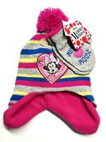 NWT Disney Minnie Mouse Hat and Mittens Cold Weather Set, Toddler Girls, Age 2-4