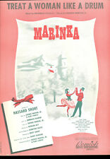 "MARINKA Broadway Show Sheet Music ""Treat A Woman Like A Drum"""