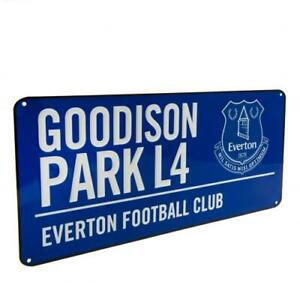 EVERTON FC OFFICIAL COLOUR METAL STREET SIGN - FOOTBALL GIFT, GOODISON PARK