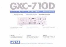 AKAI manuale di istruzioni user manual Owners Manual per GXC - 710 D