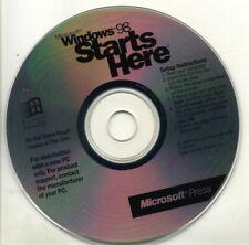 Microsoft Press Windows 98 Starts Here Instructional CD-ROM Vintage