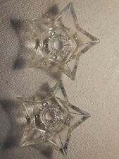New ListingVintage Glass Star Candlestick Holders (set of 2)