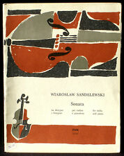 Partition / Score Wiaroslaw Sandelewski Sonata violin & piano PWM  EX
