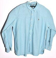 Ralph Lauren Mens 2XL Dress Shirt Classic Fit Oxford Blue Long Sleeve