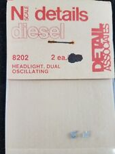 N Scale Diesel Loco Dual Oscillating Headlight, 2 pc - Detail Associates #8202