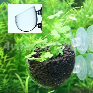 Aquarium Fish Tank Aquatic Crystal Glass Pot Plant Cup Holder Mini Glass Cup