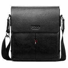 Men's Designer Shoulder Messenger Handbag Medium Size Black Polyurethane NEW HOT