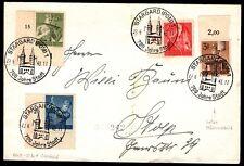 4 Timbres sur Lettre de 1943 = Cote estimée 53 € / Lot ALLEMAGNE