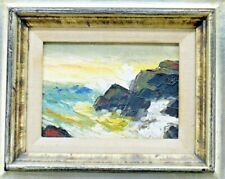 Lovely NINA Scull WOLOSHUKOVA Framed ORIGINAL Painting OIL On BOARD SEASCAPE