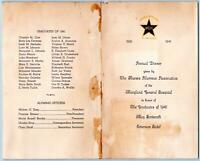 1941 MENU MARYLAND GENERAL HOSPITAL NURSES WITH NAMES EMERSON HOTEL BALTIMORE