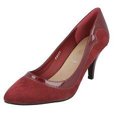Ladies Spot on Court Shoe F9655 Burgundy UK 5 Standard