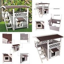 Cat House Shelter Pet Weatherproof Kitten Puppy Bed Garden Furniture Scratch New